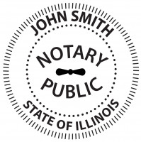 Illinois Notary Public Round Stamp | STA-IL02