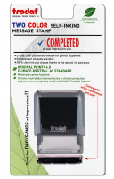 """Completed"" Message Stamp  