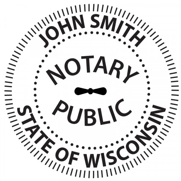 Wisconsin Notary Embosser | EMB-NOT-WI