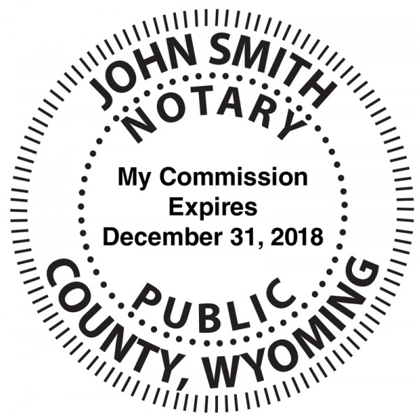 Wyoming Notary Embosser | EMB-NOT-WY