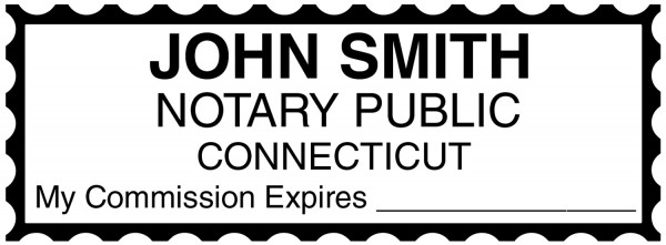 Connecticut Public Notary Rectangle Stamp | STA-CT01