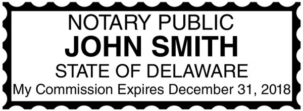 Delaware Public Notary Rectangle Stamp | STA-DE01