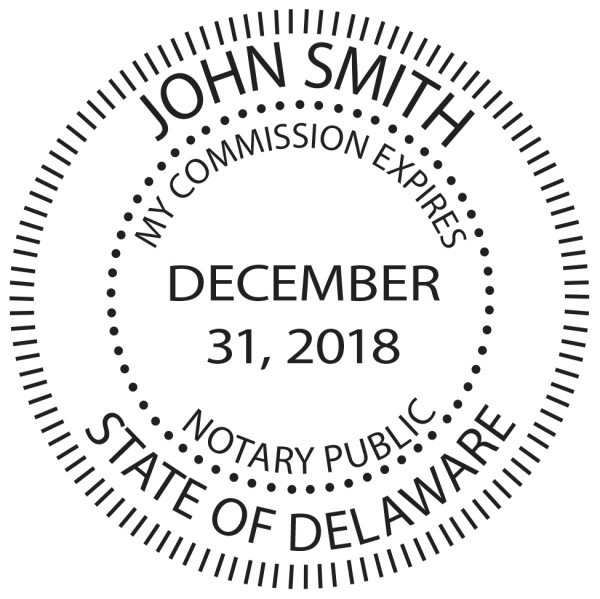 Delaware Notary Public Round Stamp | STA-DE02