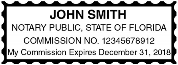 Florida Public Notary Rectangle Stamp | STA-FL01