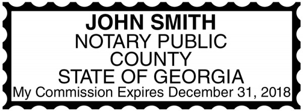 Georgia Public Notary Rectangle Stamp | STA-GA01