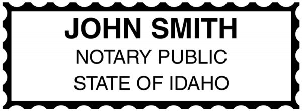 Idaho Public Notary Rectangle Stamp | STA-ID01