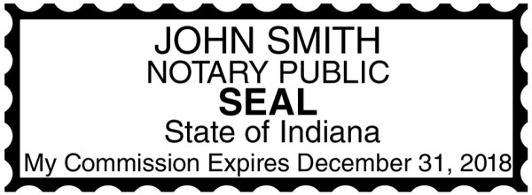 Indiana Public Notary Rectangle Stamp | STA-IN01