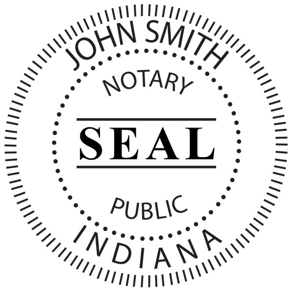 Indiana Notary Public Round Stamp | STA-IN02