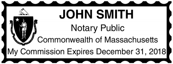 Massachusetts Public Notary Rectangle Stamp | STA-MA01