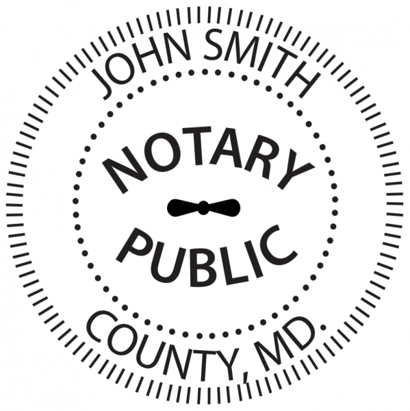 Maryland Notary Public Round Stamp | STA-MD02