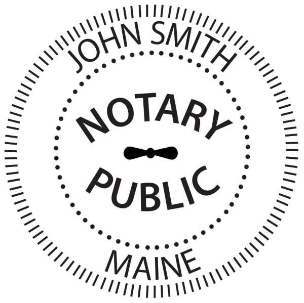 Maine Notary Public Round Stamp | STA-ME02