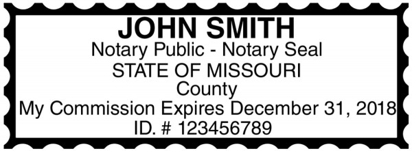 Missouri Public Notary Rectangle Stamp | STA-MO01
