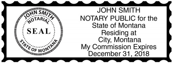 Montana Public Notary Rectangle Stamp | STA-MT01