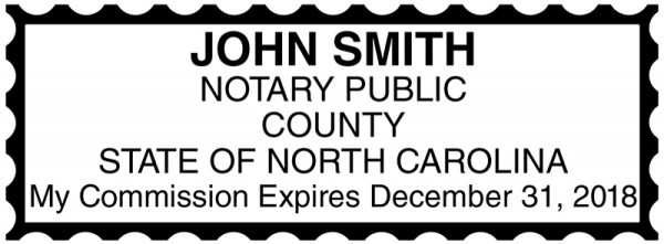 North Carolina Public Notary Rectangle Stamp | STA-NC01