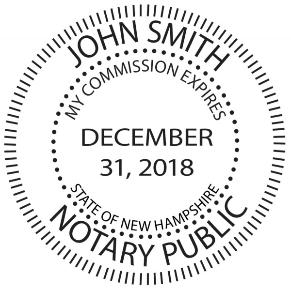 New Hampshire Notary Public Round Stamp | STA-NH02
