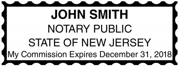 New Jersey Public Notary Rectangle Stamp | STA-NJ01