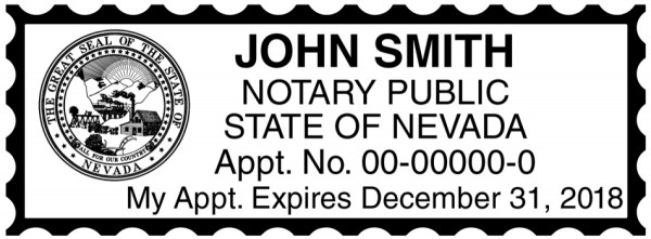 Nevada Public Notary Rectangle Stamp | STA-NV01