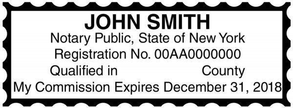New York Public Notary Rectangle Stamp | STA-NY01