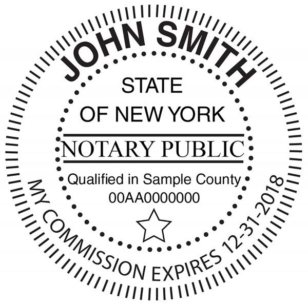 New York Notary Public Round Stamp