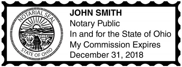 Ohio Public Notary Rectangle Stamp | STA-OH01