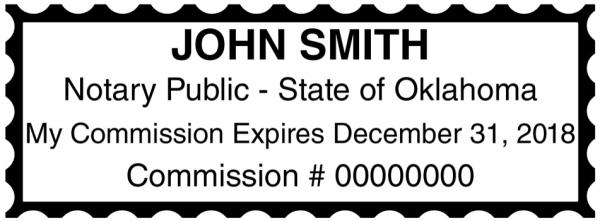 Oklahoma Public Notary Rectangle Stamp
