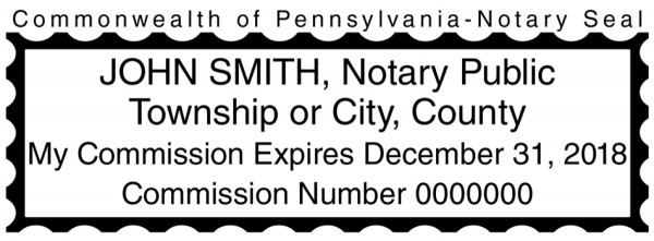 Pennsylvania Public Notary Rectangle Stamp | STA-PA01