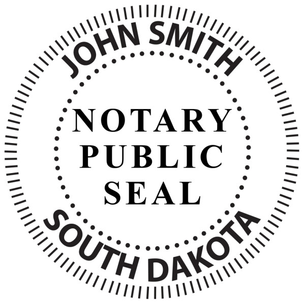 South Dakota Notary Public Round Stamp | STA-SD02