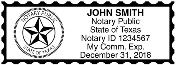 Texas Public Notary Rectangle Stamp | STA-TX01