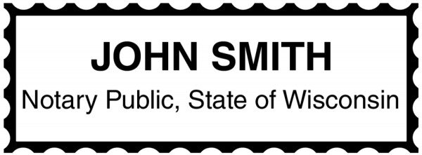 Wisconsin Public Notary Rectangle Stamp | STA-WI01