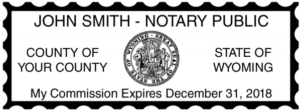 Wyoming Public Notary Rectangle Stamp | STA-WY01
