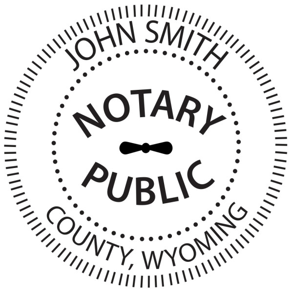 Wyoming Notary Public Round Stamp | STA-WY02